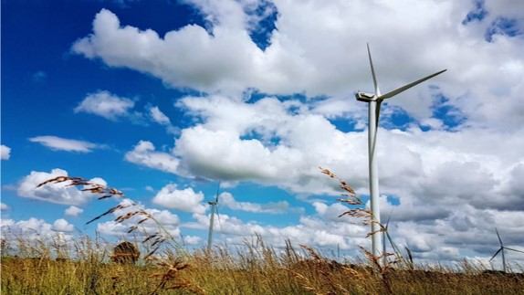 éolienne en campagne
