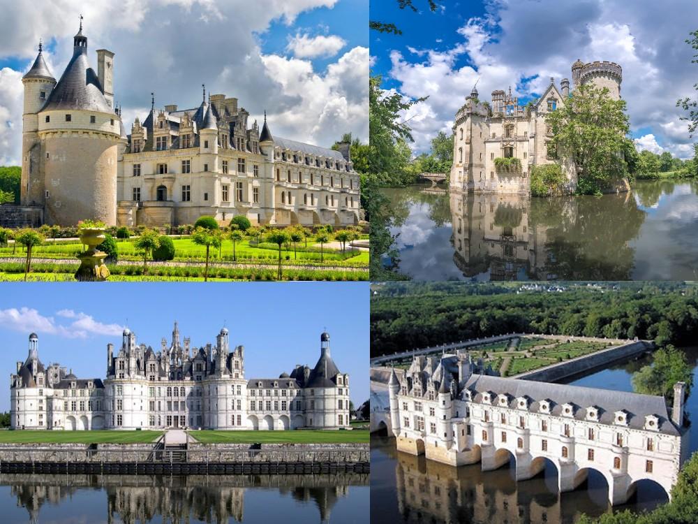 beaux châteaux de la loire