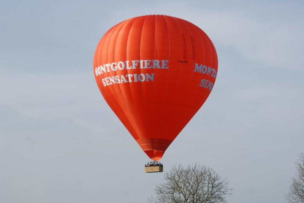 montgolfière vue du dessous